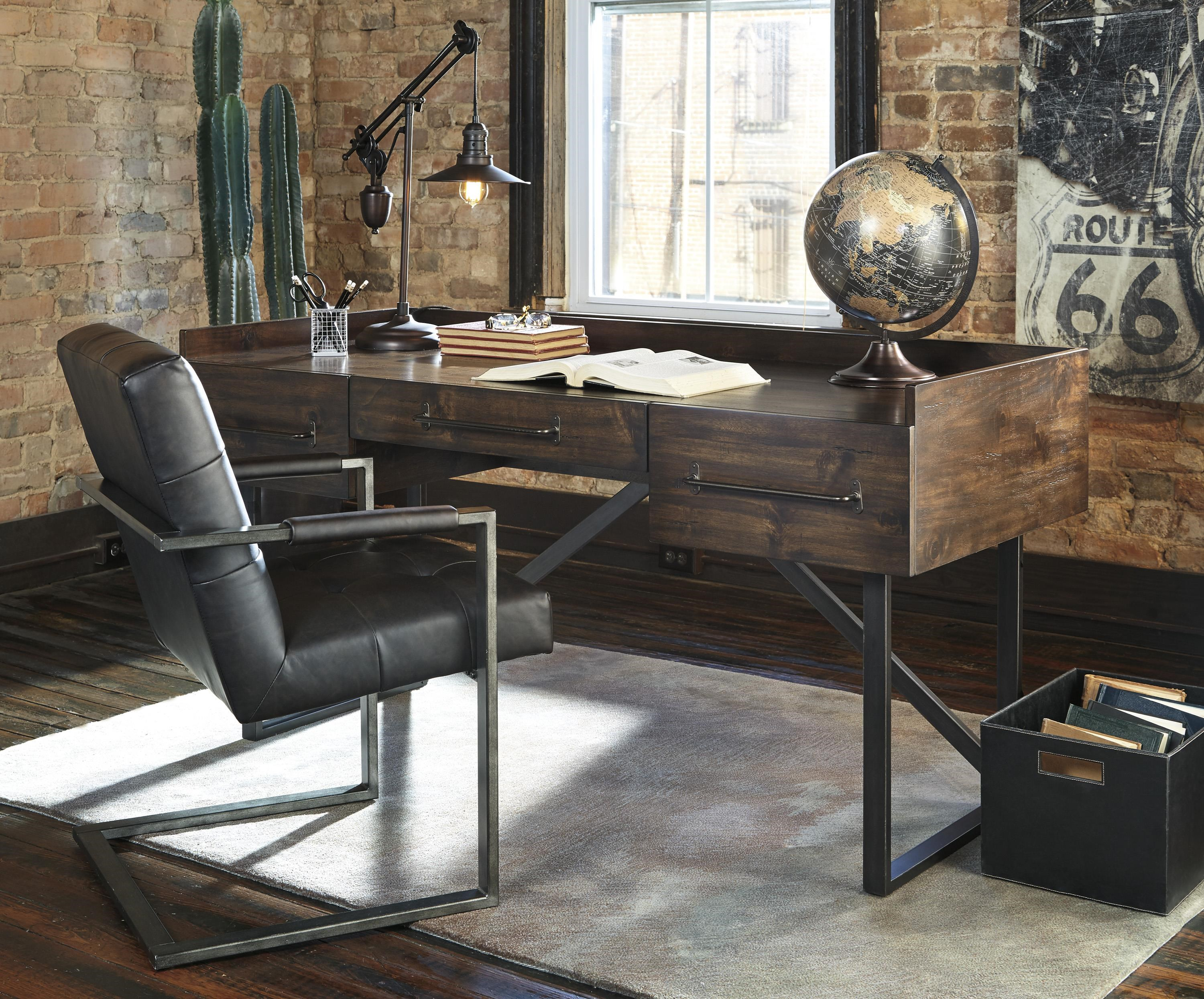 Starmore Home Office Desk and Chair Set by Signature Design by Ashley at Sam Levitz Furniture