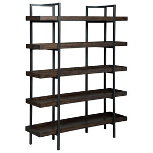 Modern Rustic/Industrial Bookcase with 5 Shelves