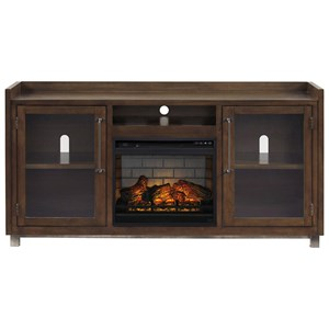 Rustic Modern/Industrial XL TV Stand w/ Fireplace