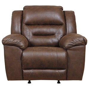 Faux Leather Rocker Recliner