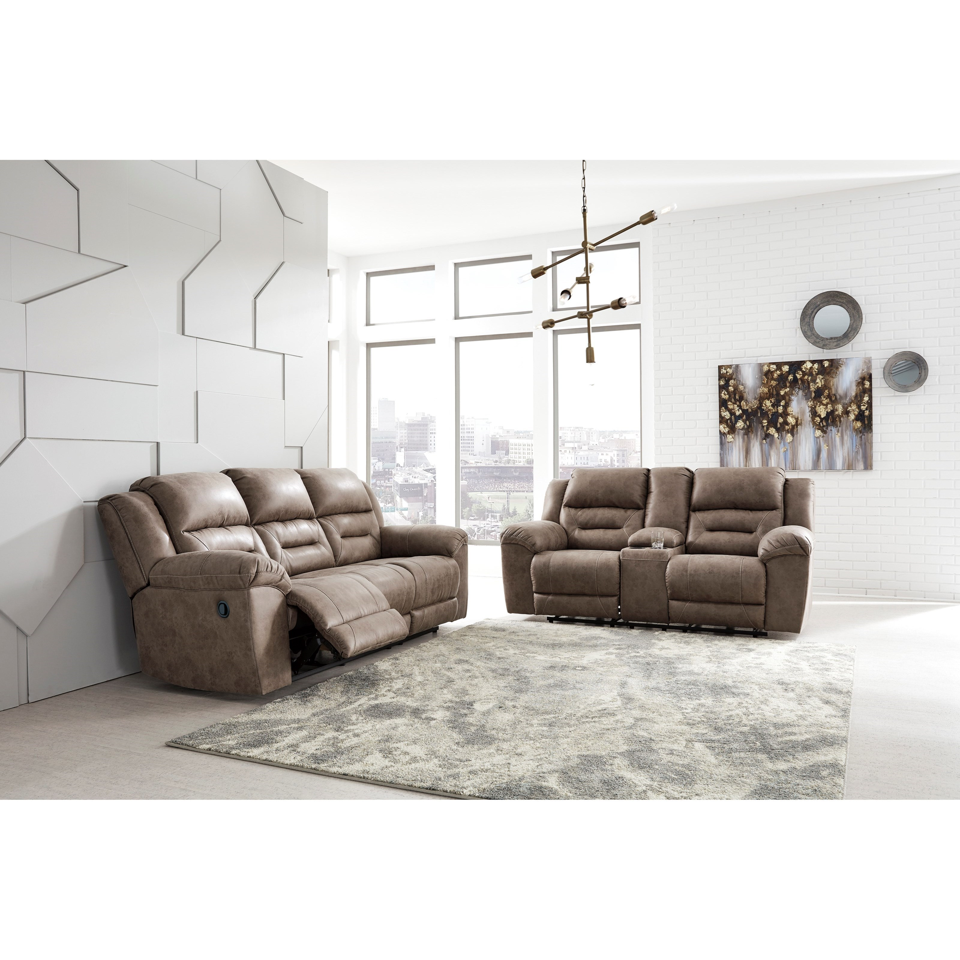 Stoneland Reclining Living Room Group by Signature Design by Ashley at Standard Furniture