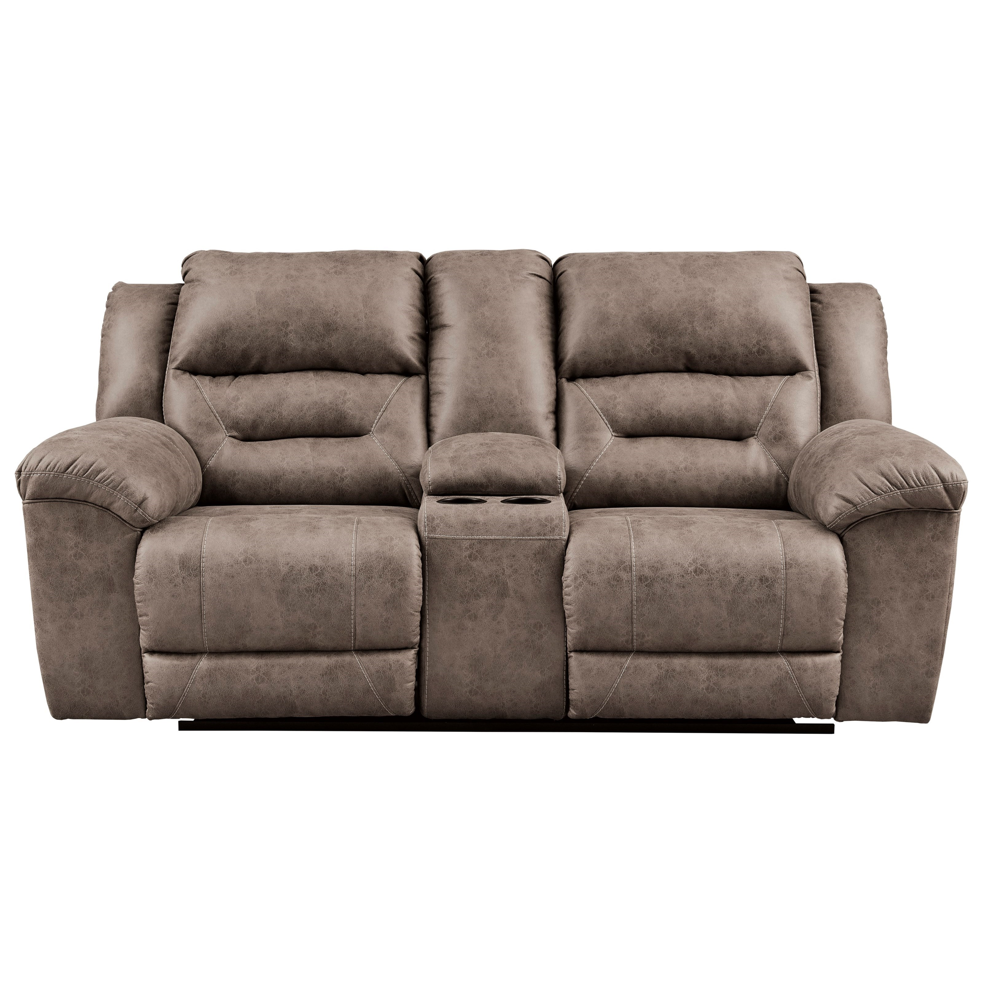 Stoneland Double Reclining Loveseat w/ Console by Signature Design by Ashley at HomeWorld Furniture