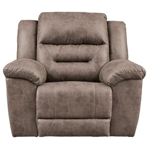 Faux Leather Power Rocker Recliner