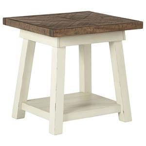 Two-Tone Rectangular End Table