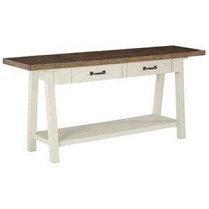 Two-Tone Rectangular Sofa Table
