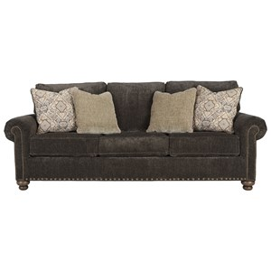 Transitional Sofa with 4 Decorative Pillows
