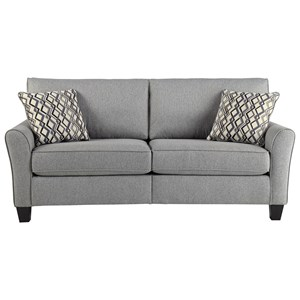 Contemporary Sofa with Flare Arms