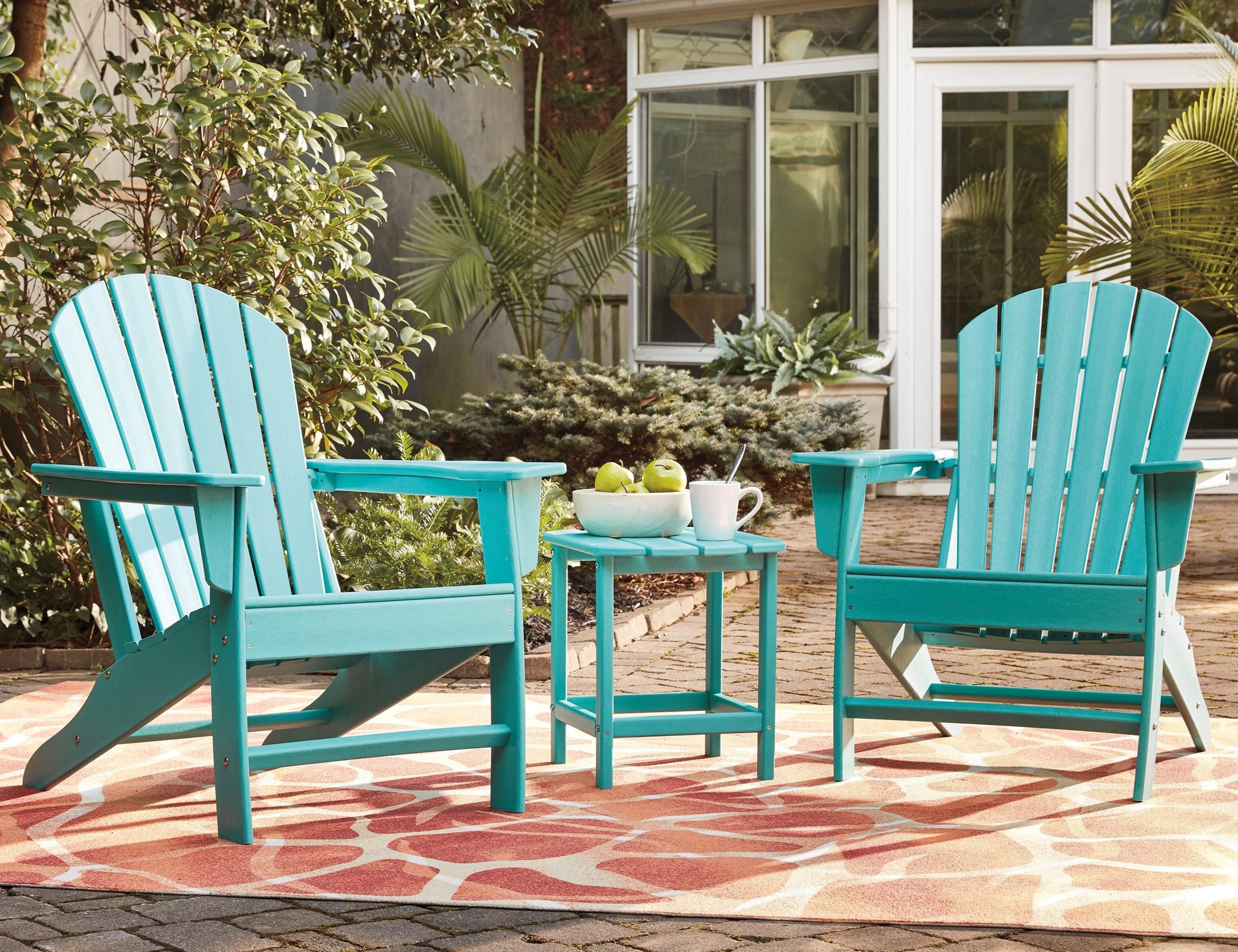 Sundown Treasure 2 Adirondack Chairs and End Table Set by Signature at Walker's Furniture