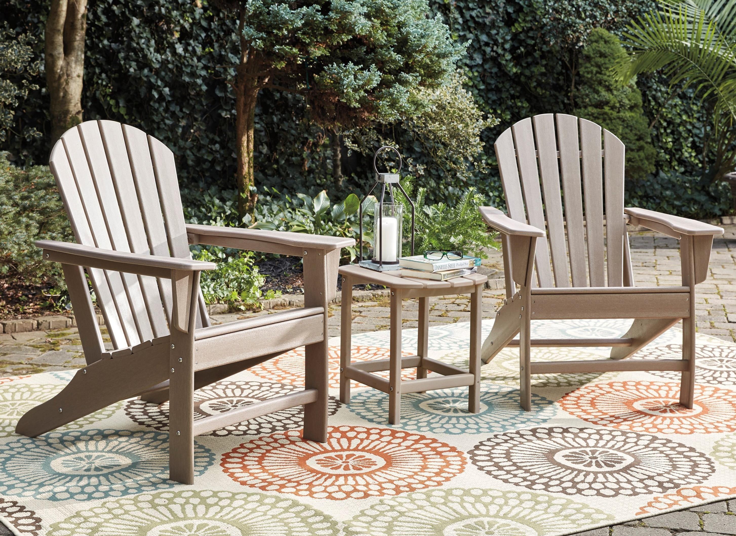 Sundown Treasure 2 Adirondack Chairs and End Table Set by Ashley (Signature Design) at Johnny Janosik