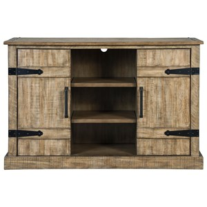 Rustic Accent Cabinet with Adjustable Shelves