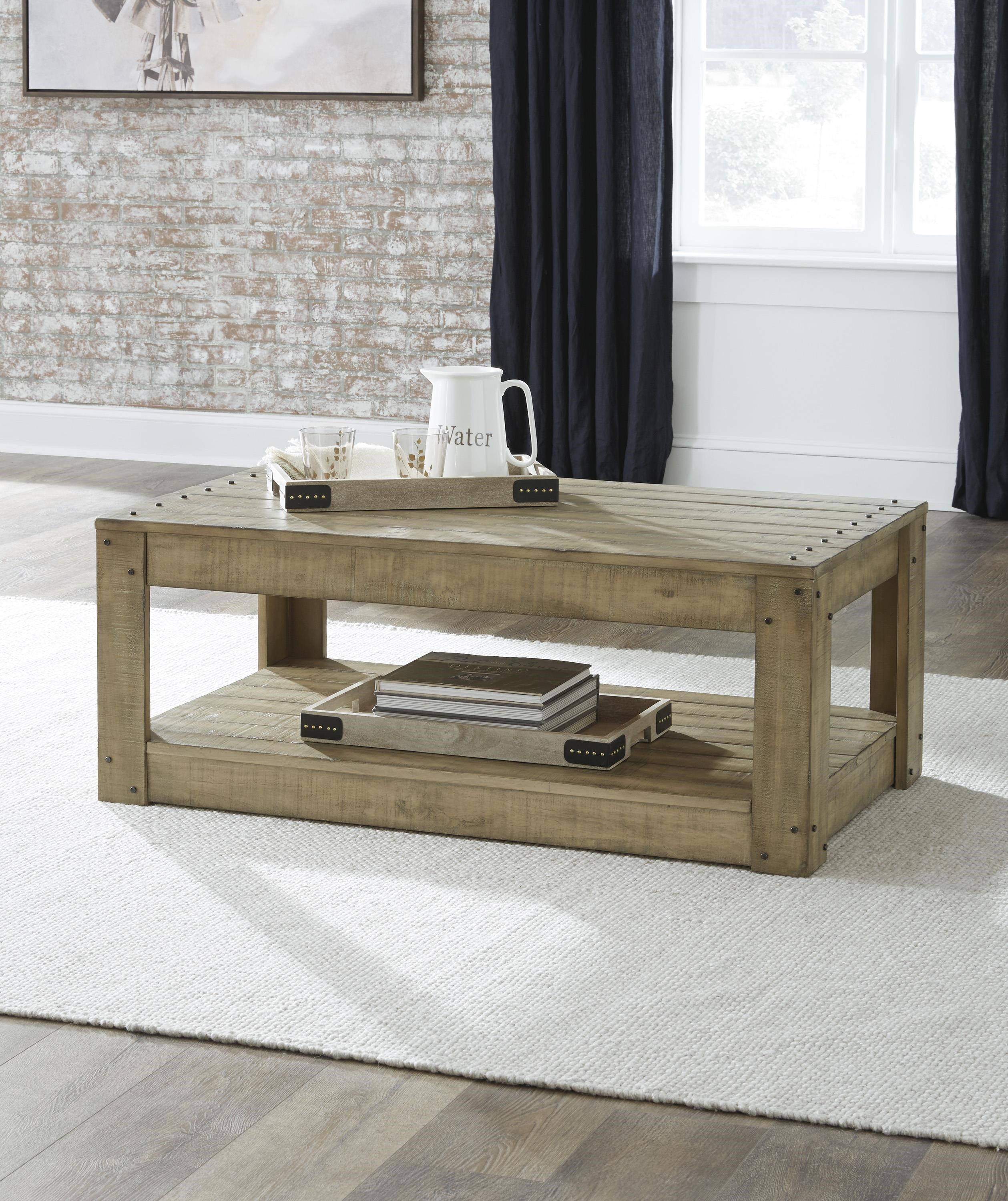 Lindalon 3 Piece Coffee Table Set by Signature Design by Ashley at Sam Levitz Furniture