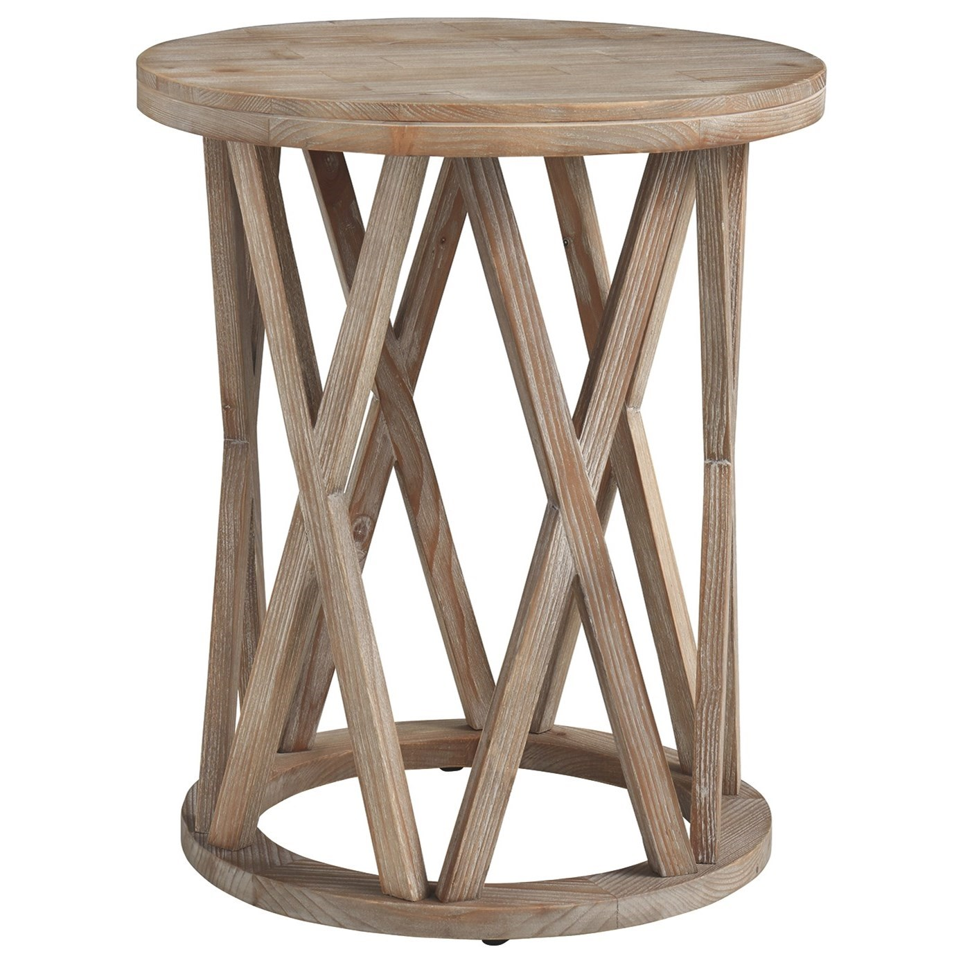 Glasslore End Table by Signature at Walker's Furniture