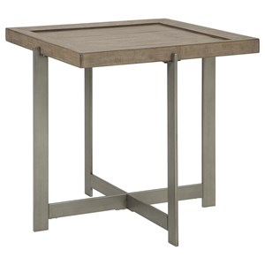 Casual End Table with Tray Top