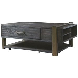 Contemporary Cocktail Table with Lift-Top