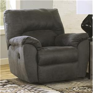 Signature Design by Ashley Tambo - Pewter Rocker Recliner