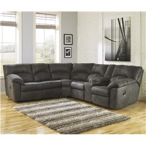 Signature Design by Ashley Tambo - Pewter 2-Piece Reclining Corner Sectional