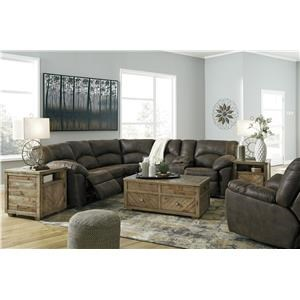 2 PC Sectional and Rocker Recliner Set