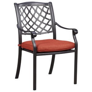 Set of 4 Outdoor Chairs with Cushion