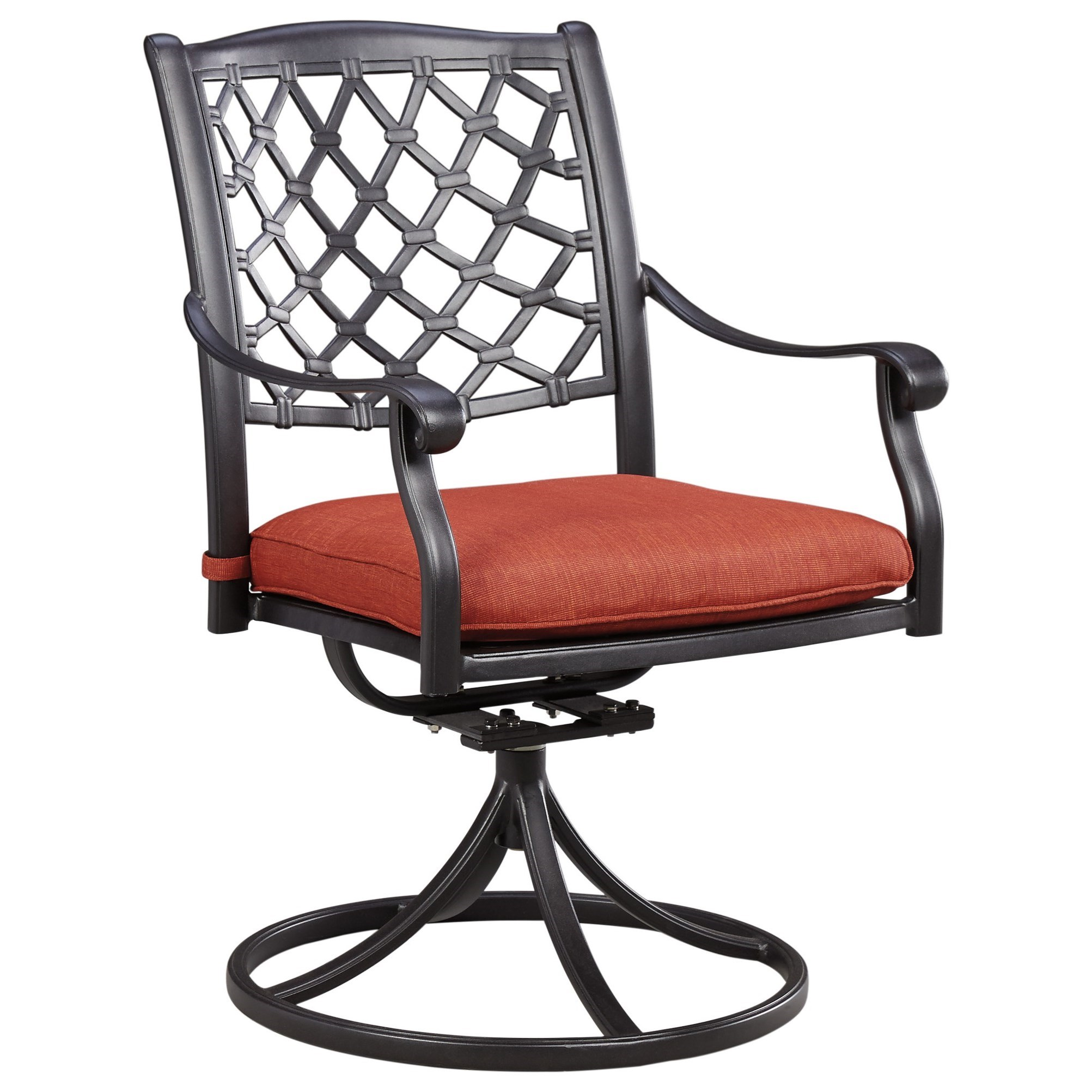 Tanglevale Set of 2 Outdoor Swivel Chairs w/ Cushion by Signature Design by Ashley at Lapeer Furniture & Mattress Center