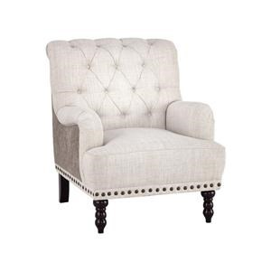 Traditional Accent Chair with Tufted Back and Nailhead Trim