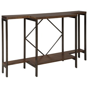 Console Sofa Table with Geometric Base