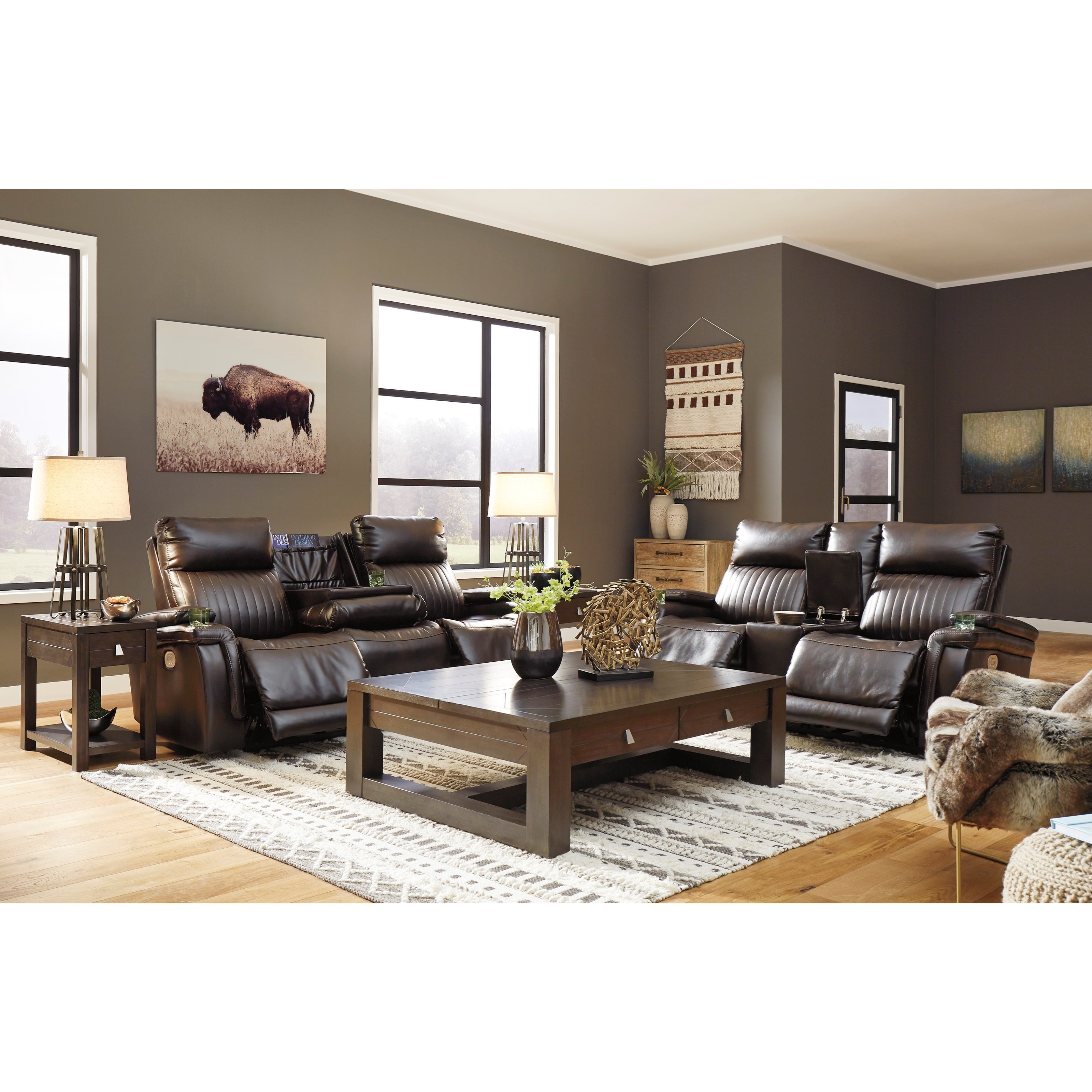 Team Time Reclining Living Room Group by Signature Design by Ashley at Northeast Factory Direct