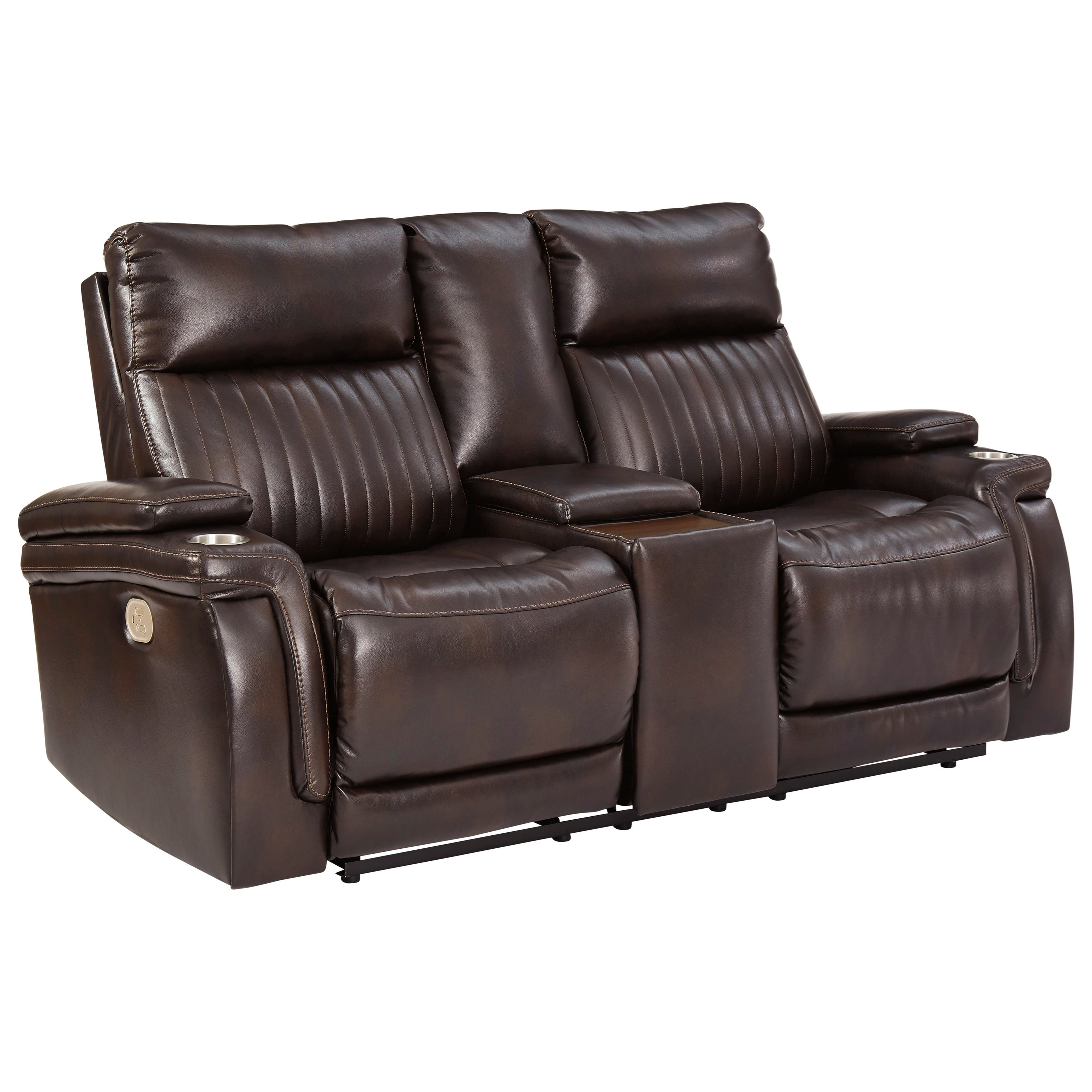 Team Time Power Reclining Console Loveseat by Signature Design by Ashley at Value City Furniture