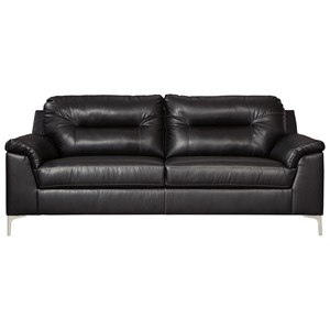 Contemporary Sofa with Pillow Arms