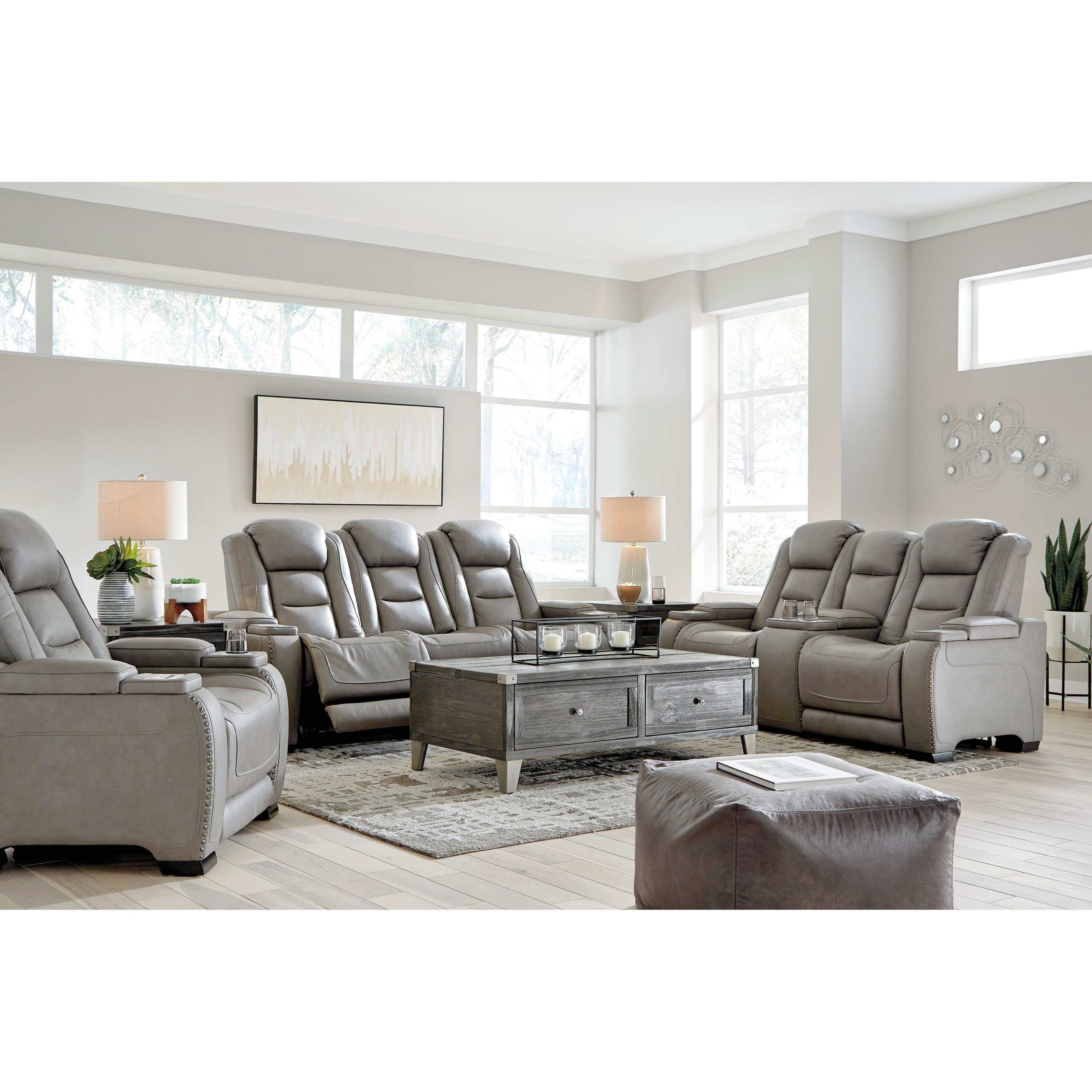 The Man-Den Reclining Living Room Group by Ashley (Signature Design) at Johnny Janosik