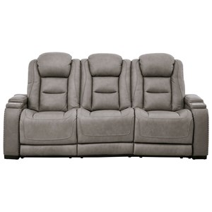 Power Reclining Sofa with Adjustable HR