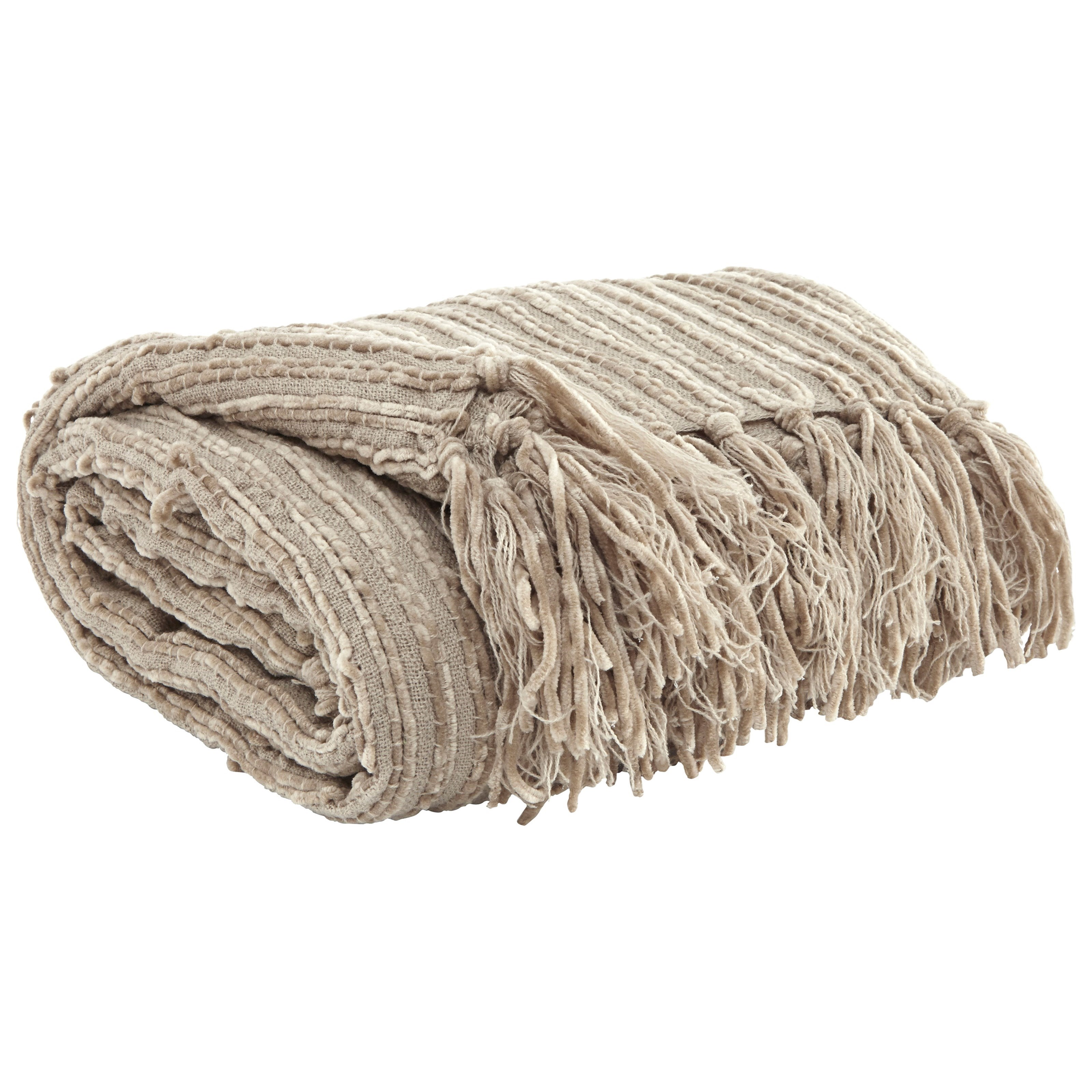 Throws Noland - Almond Throw by Signature Design by Ashley at Northeast Factory Direct