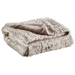 Signature Design by Ashley Throws Rolle - Tan Faux Leopard Throw