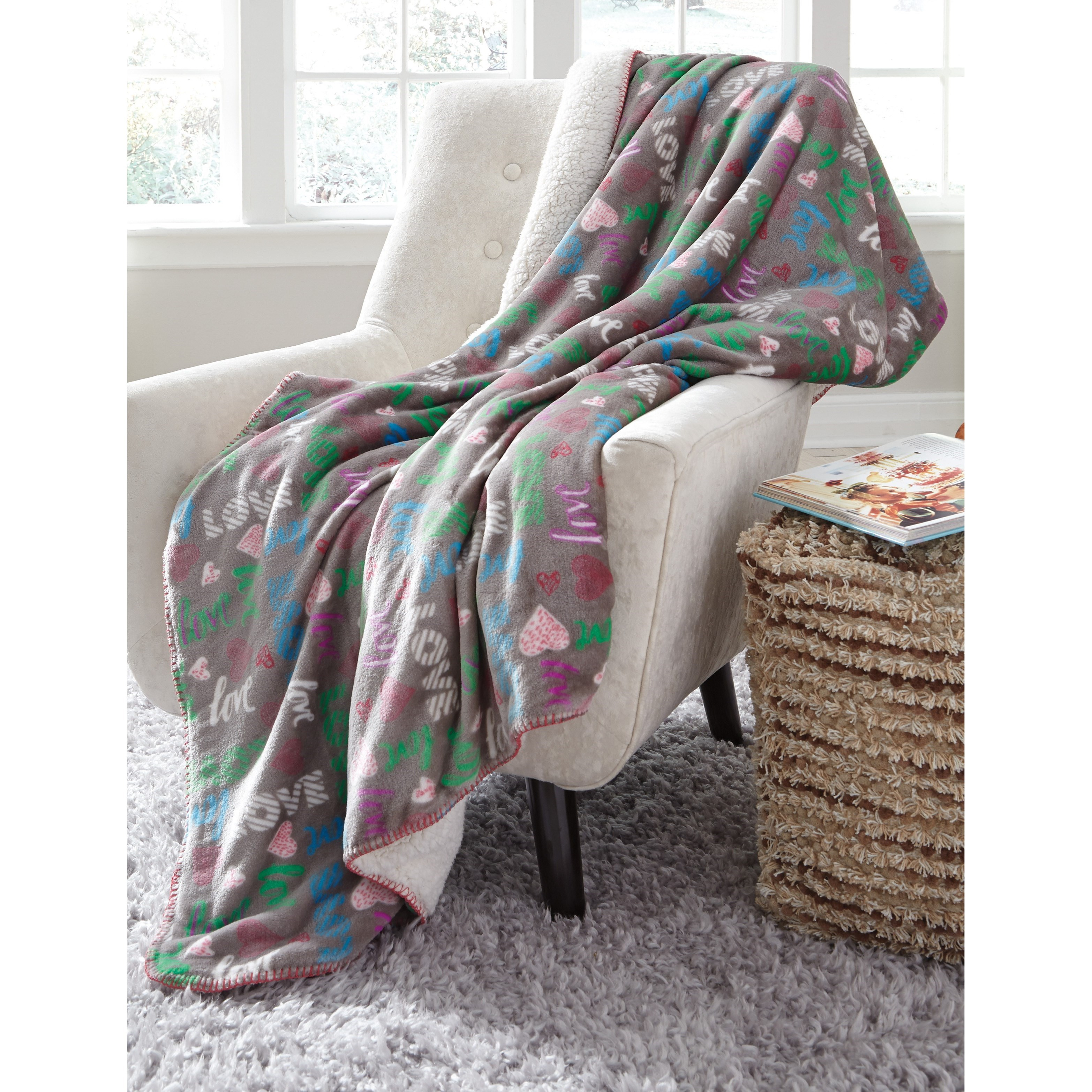 Throws Clarisse Gray/Multicolor Throw by Ashley (Signature Design) at Johnny Janosik