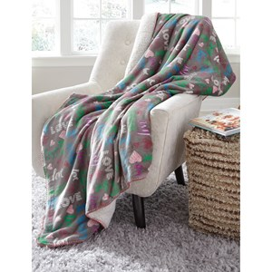 Clarisse Gray/Multicolor Throw
