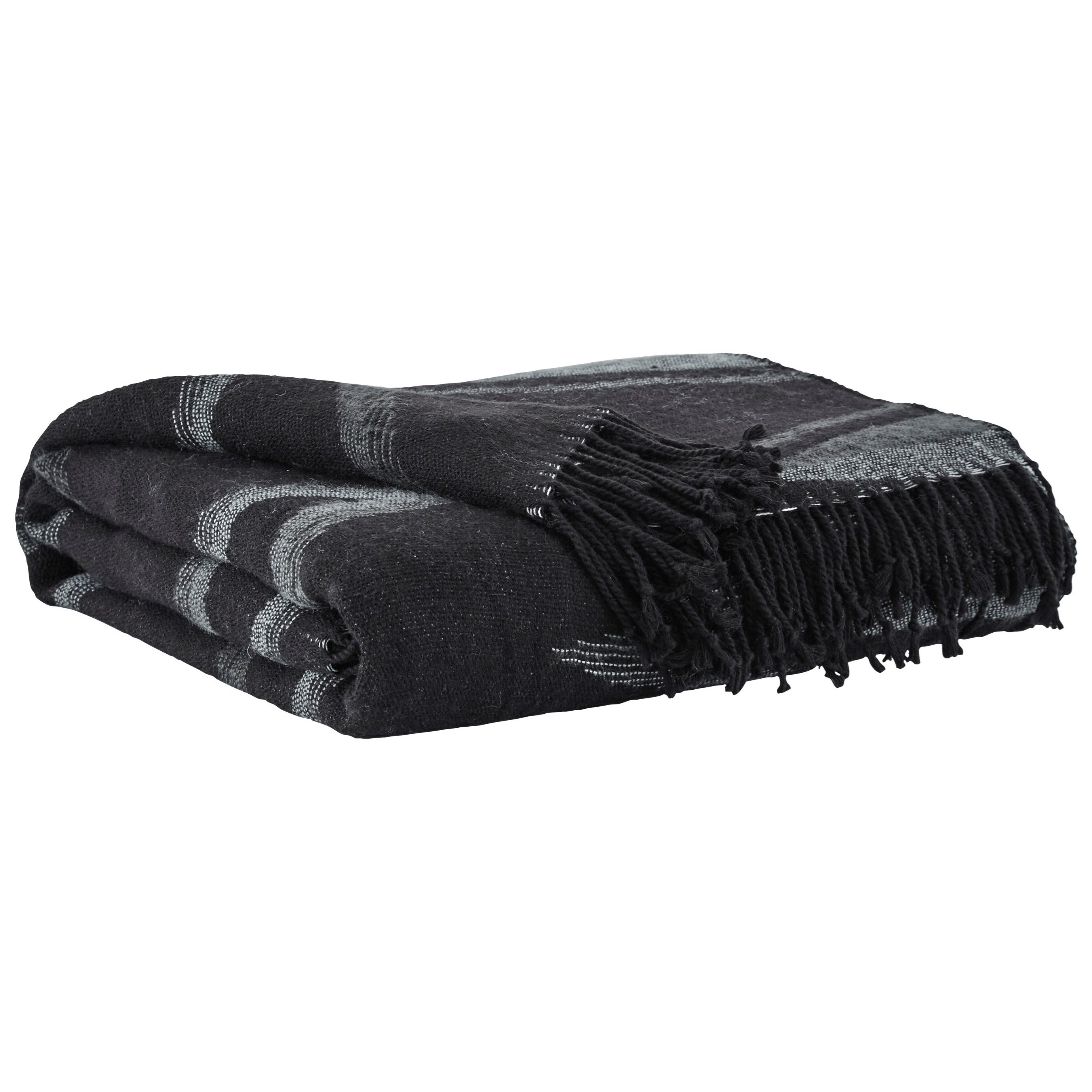 Throws Cecile Black Throw by Vendor 3 at Becker Furniture