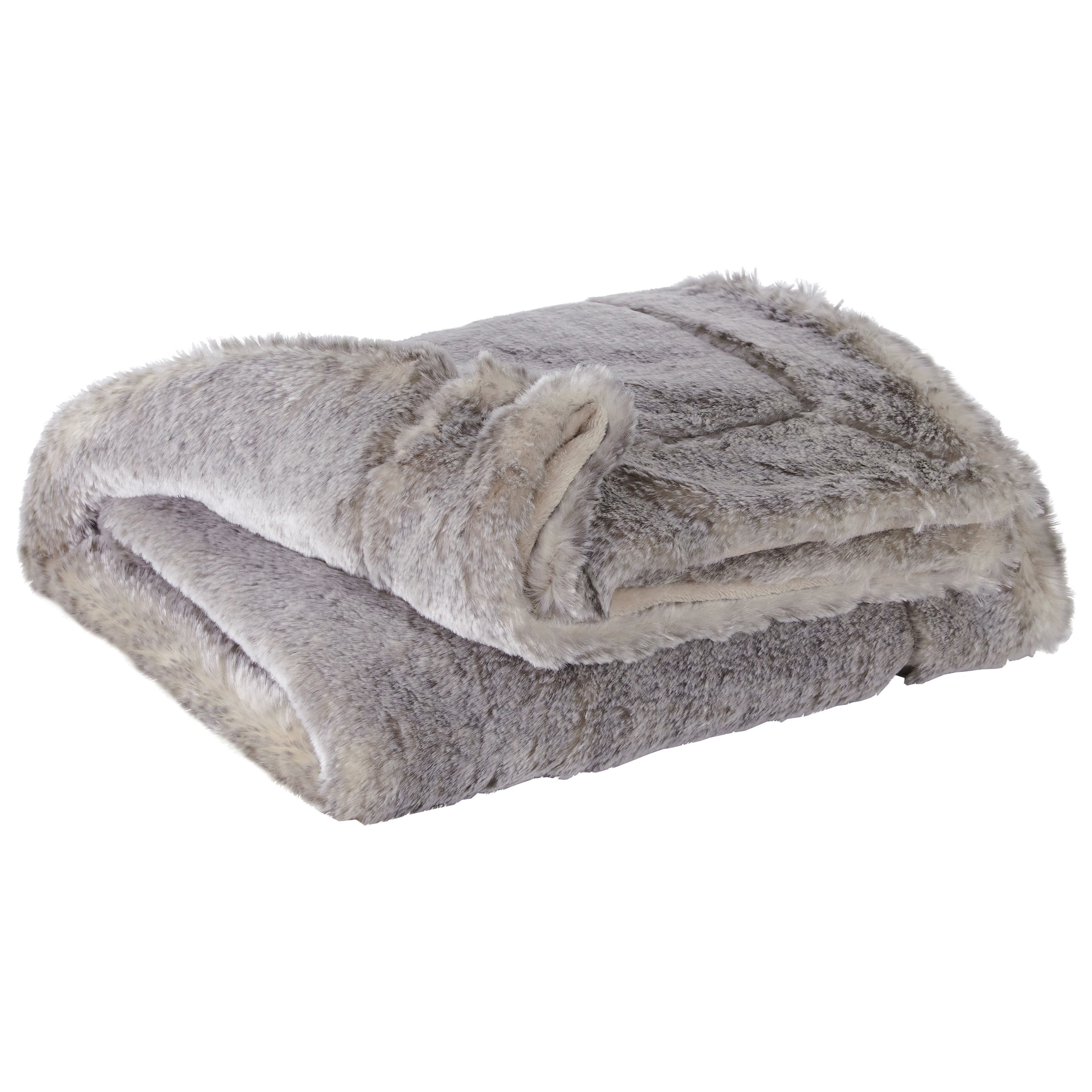 Throws Raegan Gray/Tan Throw by Signature Design by Ashley at Zak's Warehouse Clearance Center