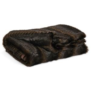 Jessen Brown/Black Faux Fur Throw