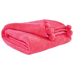 Signature Design by Ashley Throws Aniol - Pink Throw