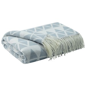 Signature Design by Ashley Throws Noemi - Blue Throw