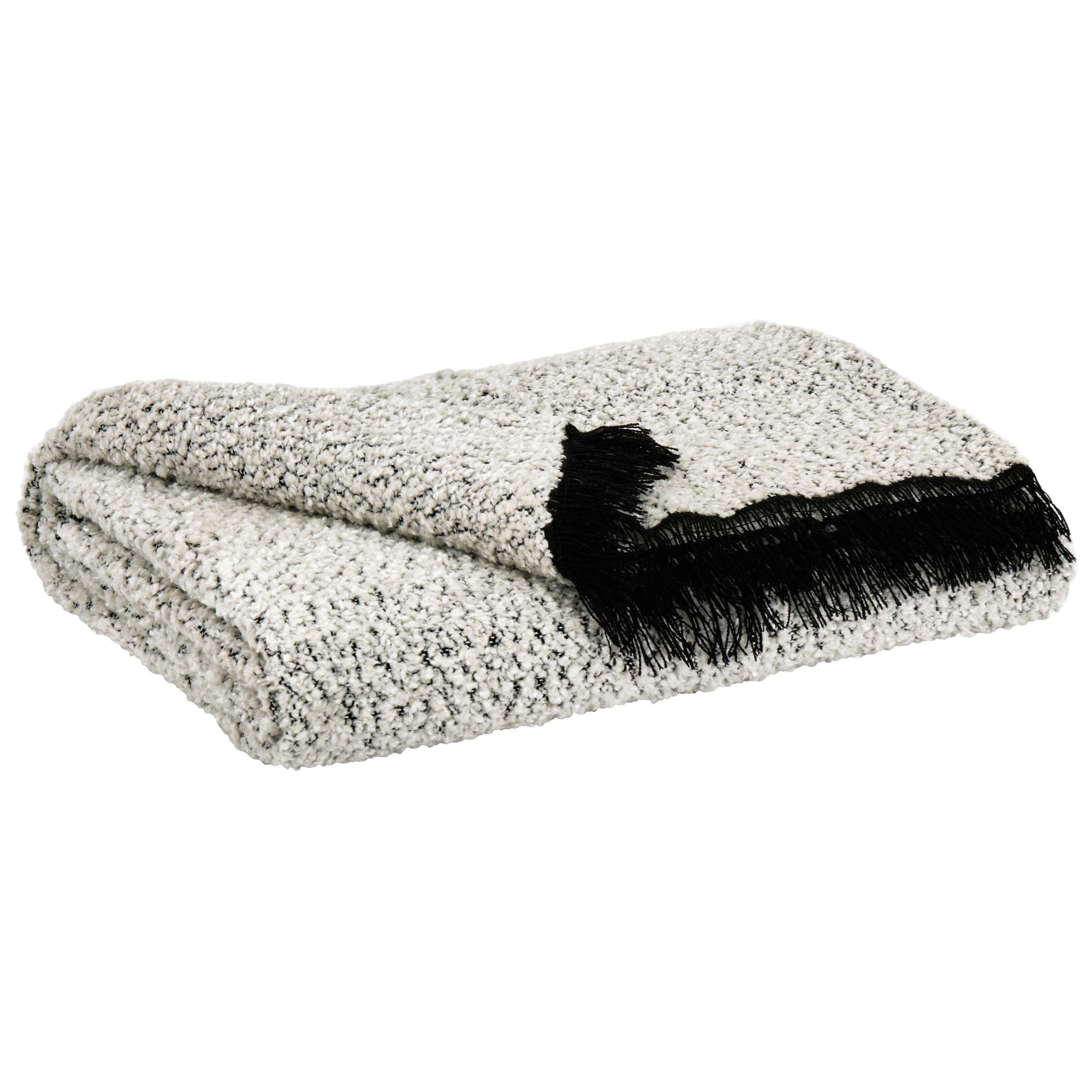 Throws Leonita Black/White Throw by Signature Design by Ashley at Value City Furniture