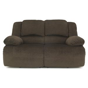 Casual Contemporary Reclining Power Loveseat