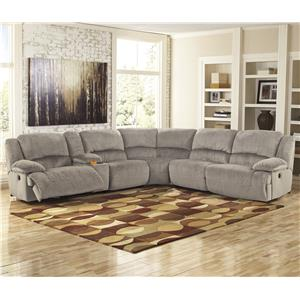 Signature Design by Ashley Toletta - Granite Power Reclining Sectional with Console