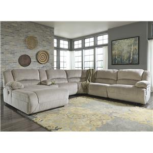 Signature Design by Ashley Toletta - Granite Power Recl. Sectional w/ Console & Chaise