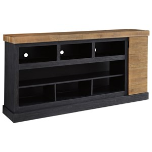 Contemporary Two-Tone XL TV Stand