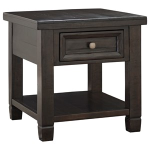 Signature Design by Ashley Townser Rectangular End Table