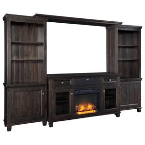 Entertainment Center w/ Fireplace Insert