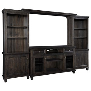 Solid Wood Pine Entertainment Center