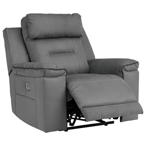 Contemporary Power Recliner with Adjustable Headrest