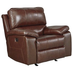 Signature Design by Ashley Transister Power Rocker Recliner w/ Adjustable Headrest