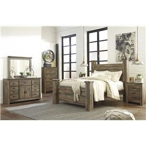 King Panel Bed, Dresser, Mirror, 2 Nightstands and Chest Package